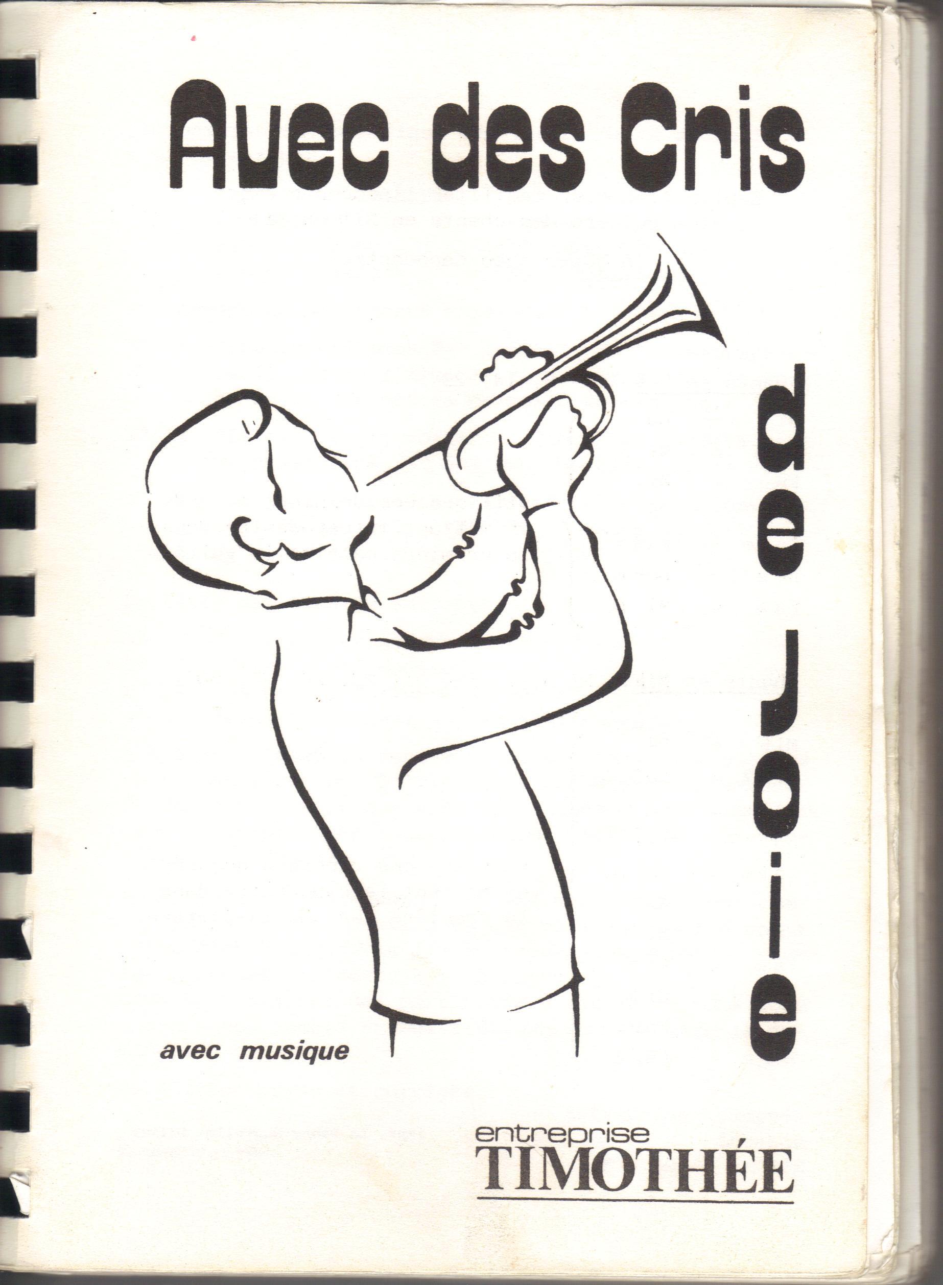 recueil Avec des cris de joie - page de garde 1983 - 4e édition 001